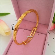 24k Japan and South Korea New style alluvial gold matte bracelet