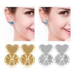 2Pairs/Set Earrings Back Ear Stud Nut Lifters Lift Copper Ear Lobe Support - intl