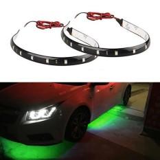 2pcs 30CM Flexible 15 LED SMD Waterproof Strips 5050 Bright Lights 12V For Cars Trucks Boat