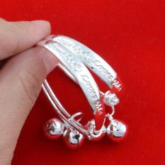 2pcs Adjustable 925 Sterling Silver Bracelet Bangle For Children Baby Girls Boys Toddlers - Intl By La Vie Store.