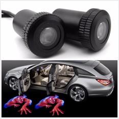 2pcs Car Door 3D Badge Emblem logo Laser Projector Welcome LED Light - intl