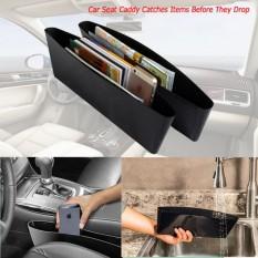 2PCS Car Seat Catcher Gap Console Filler Side Pocket Organizer Leak Proof