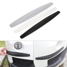 2pcs Carbon Fiber Front&rear Bumper Protector Corner Guard Scratch Sticker Black - Intl By Duoqiao.