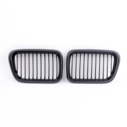 2Pcs Matte Black Front Kidney Grille for BMW E36 3 Series 1997-1999