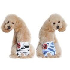 2pcs Washable Female Pet Puppy Dog Shorts Sanitary Pants Diaper Underwear with Hook And Loop Fastener Black + Blue Size M - intl Philippines