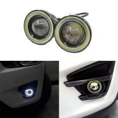 2Pcs/lot Car Fog lights Universal Waterproof 1200Lm Angel Eyes COB LED DRL Driving Lights