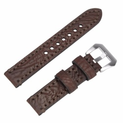 3 Colors for Quick Release Leather Watch Band, Genuine Leather Replacement Watch Strap 20mm with Stainless Metal Clasp For Man or Woman - intl