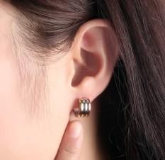 3 Colors Hoop Earrings For Women Fashion Female Jewelry Stainless Steel Intl