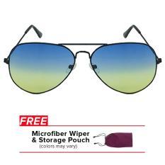 64d97495c0b6d 32sunny Sandy Black Aviator Sunglasses Blue Cool Tint Gradient Pink    Green Gradient Blue