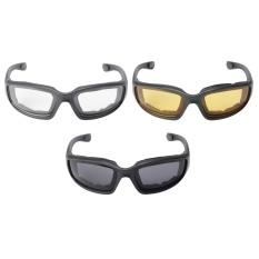 3b2b52fa944 3Pairs Choppers Motorcycle Driving Riding Glasses Padded Foam Sunglasses -  intl