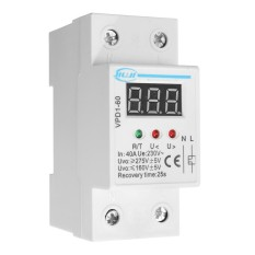 40a 220v Automatic Over And Under Voltage Protective Device Relay With Voltmeter - Intl By Elec Mall.