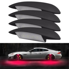 4pcs Car Wheel Light Car Fender Flares 3 Modes Wheel Fender Light Led Rock Light For Car Decor - Intl By Bangcool Store.