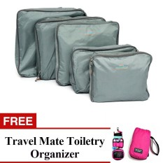 ea27604d4179 Philippines. 5-in-1 Storage Bag Organizer (Grey) with Free Travel Mate  Toiletry