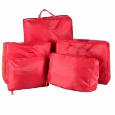 5 in 1 Travel Organizer Bags (Red)