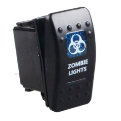 5-Pin Dual In Blue Light ON-OFF Switch (Zombie Light) (Intl)