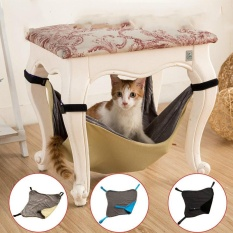 50 * 48cm Pet Supplies Canvas Cat Hammock High-End Breathable Double-Sided Hanging Chair Bench Cat Nest Mat - Intl By Home Moment.