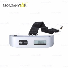 50 Kg/ 110lb Portable Electronic Luggage Scale (silver) By Morganstar Marketing.
