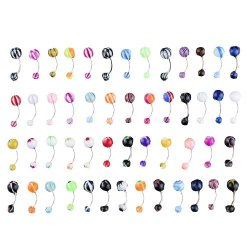 50 Piece Set of Fashion Jewelry  Belly Rings