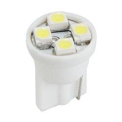 50 x T10 SMD 3528 4 LED White Side Wedge Panel Bulb Lamp Light Car