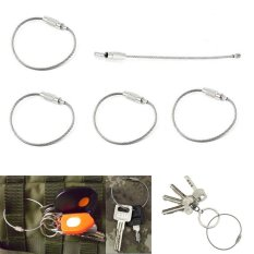 1 Pc Stainless Steel Wire Keychain Cable Key Toy Keychain Ring Chain Outdoor Luggage Tag Loop Rope High Quality Woodworking Machinery & Parts