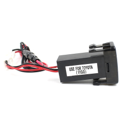 5V 2.1A USB Port Dashboard Voltmeter Phone Charger (Black)