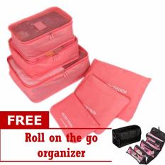 69a34a59da Philippines. 6 in 1 Travel Luggage Packing Bags (Pink) with Free Roll-N-