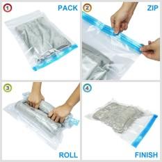 6pcs Roll Up Vacuum Compression Storage Bags Home Travel E Saver Intl