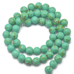 8mm BlueTurquoise Gemstone Round Loose Beads Strand 15.5 inch