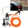 8pcs/set Portable 80W 116PSI 12V High Pressure Car Electric Washer Wash Pump