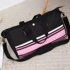 27e60ee6e36f Abby Shi D1-1 1130 Victoria s Secret Black Canvas Large Tote Bag