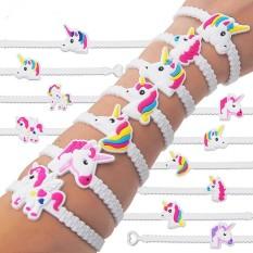 Ai Home 24pcs Unicorn Bracelets Wristband Party Favors Supplies For Kids Band White