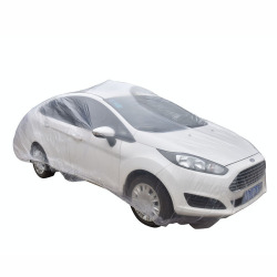 Amango Waterproof Car Covers Disposable With Elastic Band