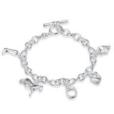 Amart Sterling Silver Horse Hoof Chain Bracelet (Silver) - Intl