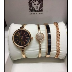 Anne Klein Bangle And Bracelet Set Gold Watch For Women