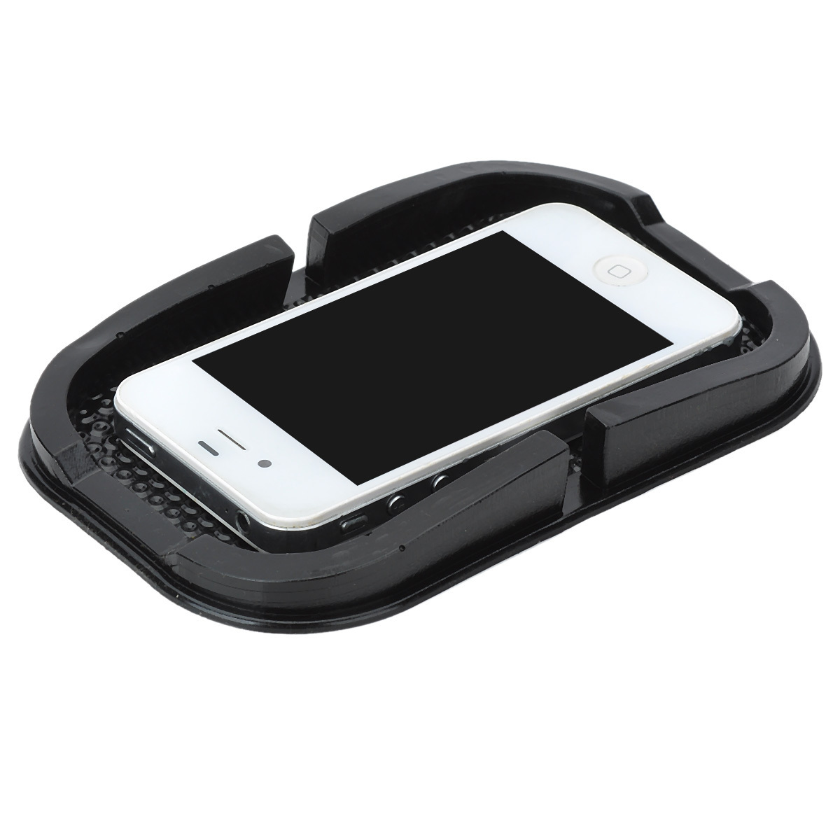 Anti-skid Rubber Stand Holder Pad for Mobile Phone (Black) - thumbnail