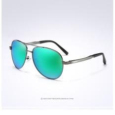 f12237a4a8 AORON Men Aviator Sunglasses Male HD Driving Polarized Glasses Luxury UV400  Pilot Sun Glass Metal Frame