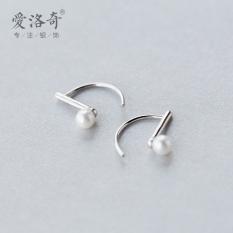 A'ROCH 925 Silver Ear Stud women Korean Style Fashion Sweet Shell Pearls Synthesis Pearl