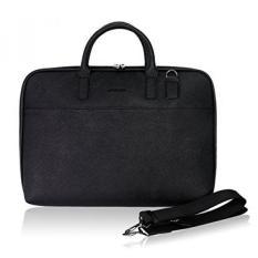 fb6b8c0163 Arvok 15-16 Inch PU Leather Laptop Bag with Handle   Shoulder Strap Water-