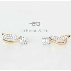 Athena & Co. 18k Gold Plated Tanya Clip Earrings
