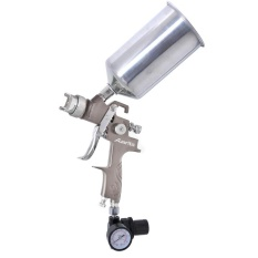 Auarita K - 350 Kit Spray Paint Tool Hvlp Sprayer Gravity Feed (silver) - Intl By Woto.