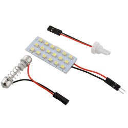 Aukey LED Panel Car Dome Lights T10 Lamp Bulb Festoon