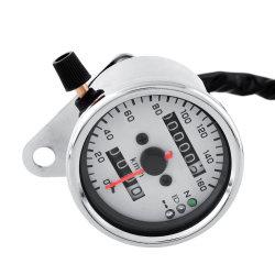 Aukey Motorcycle Motor Replace Dual Speedometer Gauge LED Backlight