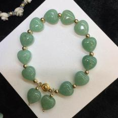 Authentic Jade Heart And 10k Bracelet