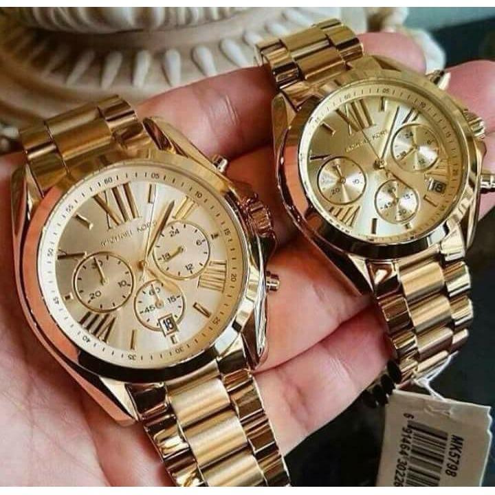 Authentic Michael Kors Gold Tone Couple Watch