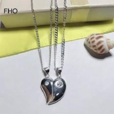 Authentic Silver Couple Heart Necklace