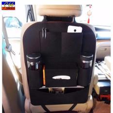 Black Auto Car Back Seat Storage Bag Cover Organizer Holder Bottle Tissue