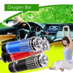 Auto Car Fresh Air Purifier Oxygen Bar Ionizer Mini Blue