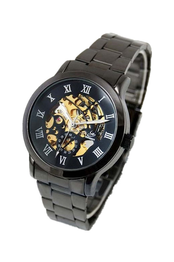 Automatic Mechanical Stainless Steel Sport Watch Black product preview, discount at cheapest price