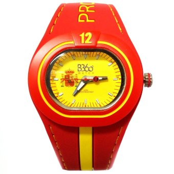 B360 B-Proud Spain Men's Red Dual Colored Silicone Strap Watch