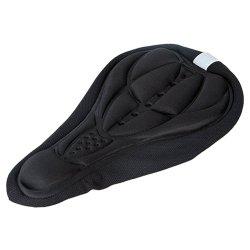 Bike Silicone Saddle Seat Cover Silica Gel Cushion Soft Pad Black